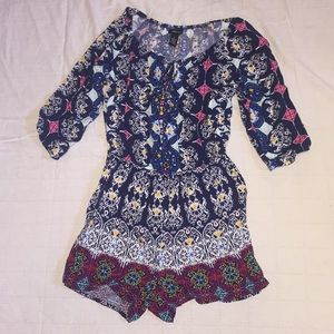 NWOT romper with super cute print!